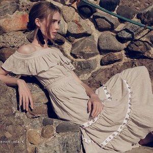 MISA Los Angeles Tulla Dress in Beige